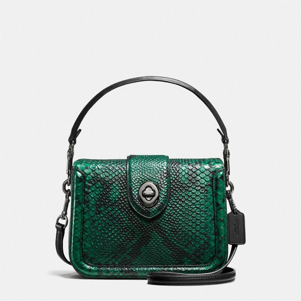 Coach Page Crossbody in Snake-Embossed Leather