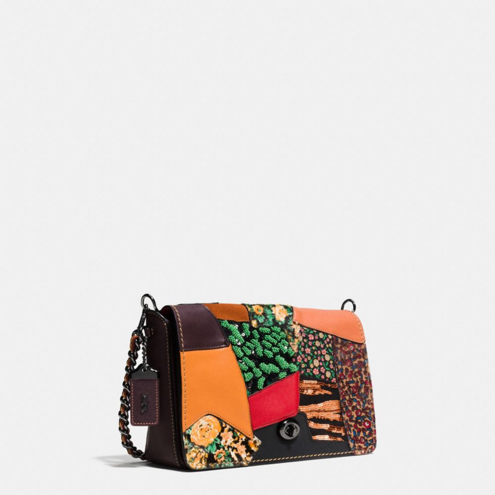 Dinky Crossbody 24 in Embellished Patchwork Leather - Alternate View A2