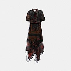 BANDANA PRINT DRESS - BROWN - COACH 38510