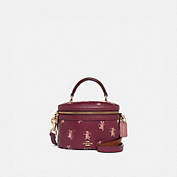 TRAIL BAG WITH PARTY MOUSE PRINT - DARK BERRY/GOLD - COACH 38602