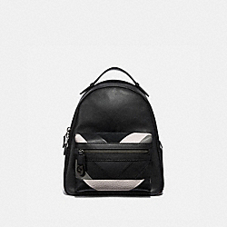 CAMPUS BACKPACK WITH PATCHWORK - BLACK MULTI/PEWTER - COACH 38674