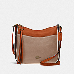 CHAISE CROSSBODY IN COLORBLOCK - B4/TAUPE GINGER MULTI - COACH 38696