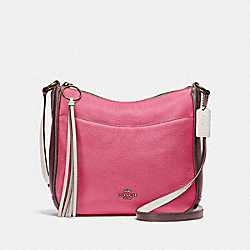 CHAISE CROSSBODY IN COLORBLOCK - B4/CONFETTI PINK MULTI - COACH 38696