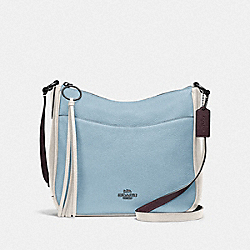 CHAISE CROSSBODY IN COLORBLOCK - V5/WATERFALL MULTI - COACH 38696