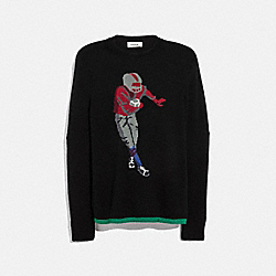 FOOTBALLER INTARSIA SWEATER - BLACK - COACH 38712