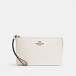 LARGE CORNER ZIP WRISTLET - IM/CHALK - COACH 3888