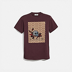 SIGNATURE SKULL T-SHIRT - BURGUNDY - COACH 38904