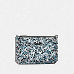 ZIP CARD CASE - METALLIC GRAPHITE/GUNMETAL - COACH 38921