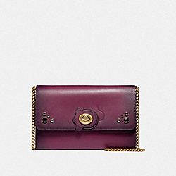 MARLOW TURNLOCK CHAIN CROSSBODY WITH ANIMALS - B4/DARK BERRY - COACH 38962