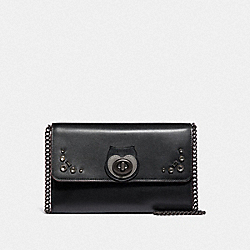 MARLOW TURNLOCK CHAIN CROSSBODY WITH ANIMALS - V5/BLACK - COACH 38962