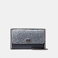 MARLOW TURNLOCK CHAIN CROSSBODY - GREY - COACH 38963