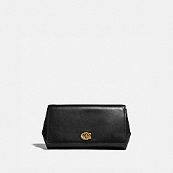 ALEXA TURNLOCK CLUTCH - BLACK/BRASS - COACH 38965