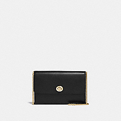 MARLOW TURNLOCK CHAIN CROSSBODY - GD/BLACK - COACH 38966