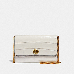 MARLOW TURNLOCK CHAIN CROSSBODY - CHALK/BRASS - COACH 38969