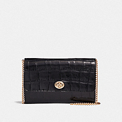 MARLOW TURNLOCK CHAIN CROSSBODY - BLACK/GOLD - COACH 38969