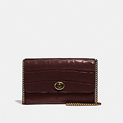 MARLOW TURNLOCK CHAIN CROSSBODY - OXBLOOD/PEWTER - COACH 38969