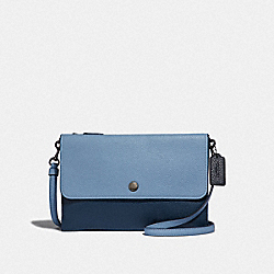 TRIPLE CROSSBODY IN COLORBLOCK - SLATE MULTI/GUNMETAL - COACH 38979