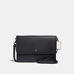 TRIPLE CROSSBODY IN COLORBLOCK - BLACK MULTI/GUNMETAL - COACH 38979
