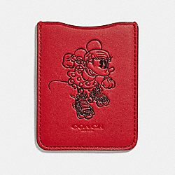 MINNIE MOUSE ROLLERSKATE PHONE POCKET STICKER - 1941 RED - COACH 39005