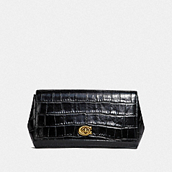 ALEXA TURNLOCK CLUTCH - MIDNIGHT NAVY/BRASS - COACH 39252