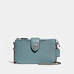 TURNLOCK CROSSBODY - SAGE/SILVER - COACH 39253