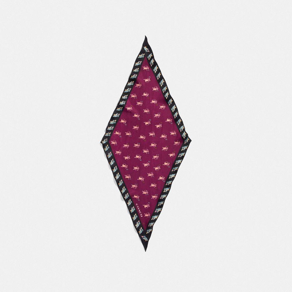 파티 마우스 실크 다이아몬드 스카프