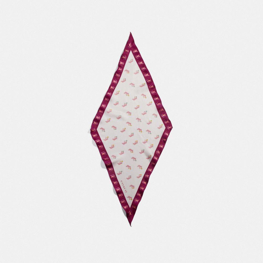 파티 피그 실크 다이아몬드 스카프
