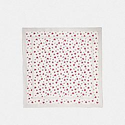 VALENTINE PRINT SQUARE - CHALK - COACH 39386