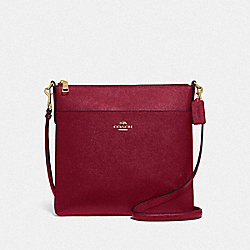 KITT MESSENGER CROSSBODY 26 - GD/DEEP RED - COACH 39408