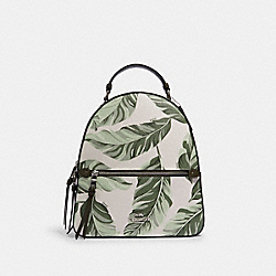 JORDYN BACKPACK WITH BANANA LEAVES PRINT - SV/CARGO GREEN CHALK MULTI - COACH 3962