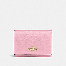 SMALL FLAP WALLET - GD/BLOSSOM - COACH 39737