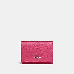 SMALL FLAP WALLET - GM/DARK PINK - COACH 39737