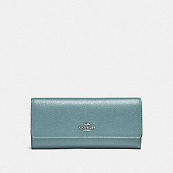 SOFT TRIFOLD WALLET - SV/SAGE - COACH 39745