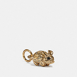 MOUSE CHARM - MULTI/GOLD - COACH 39879