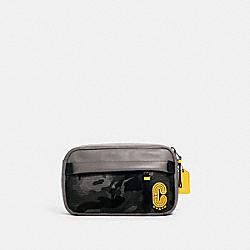 EDGE BELT BAG WITH CAMO PRINT - QB/BLACK MULTI - COACH 3991