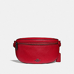 BELT BAG - GUNMETAL/RED APPLE - COACH 39939