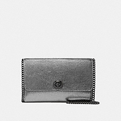 MARLOW TURNLOCK CHAIN CROSSBODY - METALLIC GRAPHITE/GUNMETAL - COACH 40076