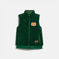 SHEARLING VEST - HUNTER - COACH 4034