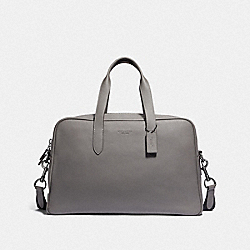METROPOLITAN SOFT CARRYALL - BLACK ANTIQUE NICKEL/HEATHER GREY - COACH 40459