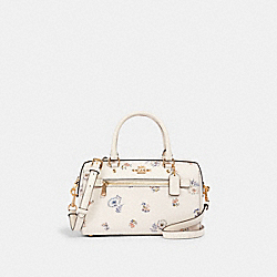 ROWAN SATCHEL WITH DANDELION FLORAL PRINT - IM/CHALK/ BLUE MULTI - COACH 4105