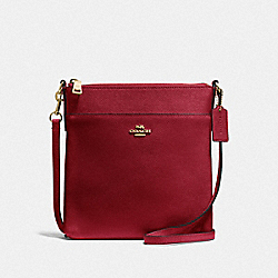 KITT MESSENGER CROSSBODY - GD/DEEP RED - COACH 41320