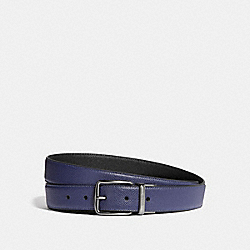 HARNESS BUCKLE CUT-TO-SIZE REVERSIBLE BELT, 30MM - CADET/BLACK - COACH 41323