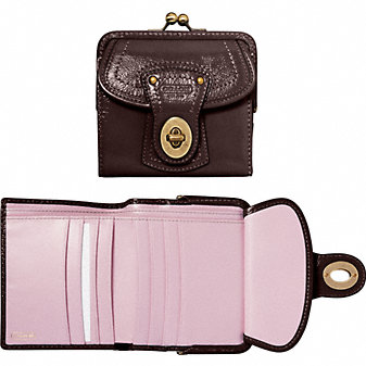 Coach Official Site - COACH LEGACY PATENT LEATHER FRENCH PURSE :  coach wallet purple