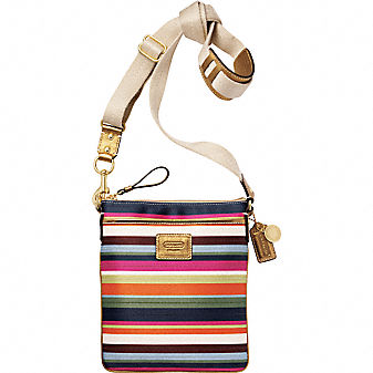 Coach Official Site - COACH LEGACY STRIPE SWINGPACK from coach.com