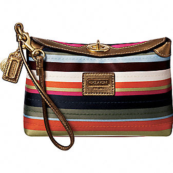 Coach Official Site - COACH LEGACY STRIPE CAPACITY WRISTLET from coach.com