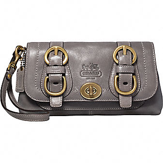 Coach Official Site - COACH LEGACY LEATHER WRISTLET :  pouches bag wear fall trend