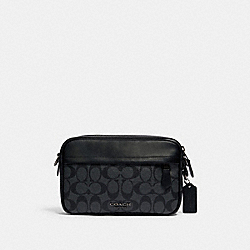 GRAHAM CROSSBODY IN SIGNATURE CANVAS - QB/CHARCOAL BLACK - COACH 4189