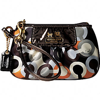 Coach Official Site - GRAPHIC OP ART WRISTLET :  art bags shoes op