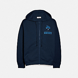 BIG APPLE CAMP JERSEY HOODIE - NAVY - COACH 4236