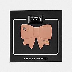 BOW SHOE PATCH - PALE BLUSH - COACH 42406